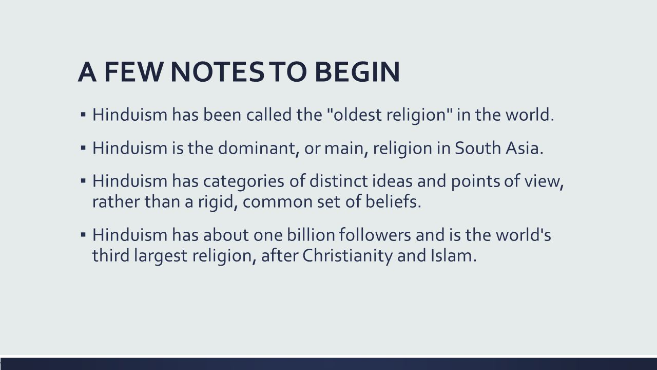 Easter Religions HINDUISM Asia Lesson DO NOW At The Top Of - Top 5 largest religions in the world
