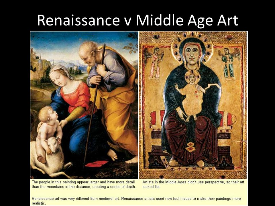 the changes the occurred between the medieval era and the renaissance
