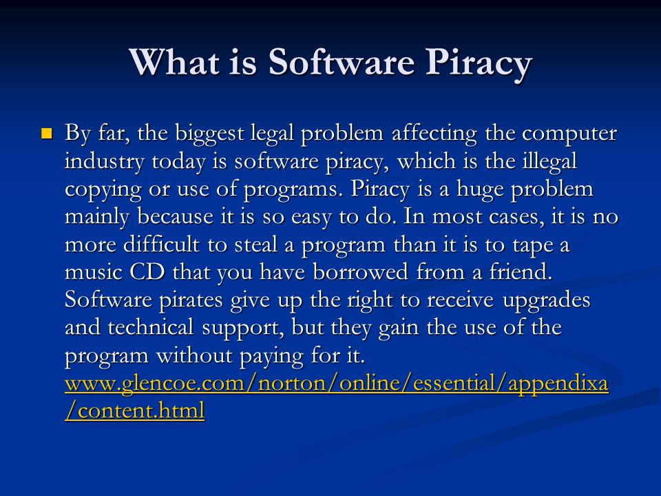 the growing concern of software piracy in canada Counterfeit consumer goods are goods  australia, canada, the european according to social media and luxury goods counterfeit: a growing concern for.