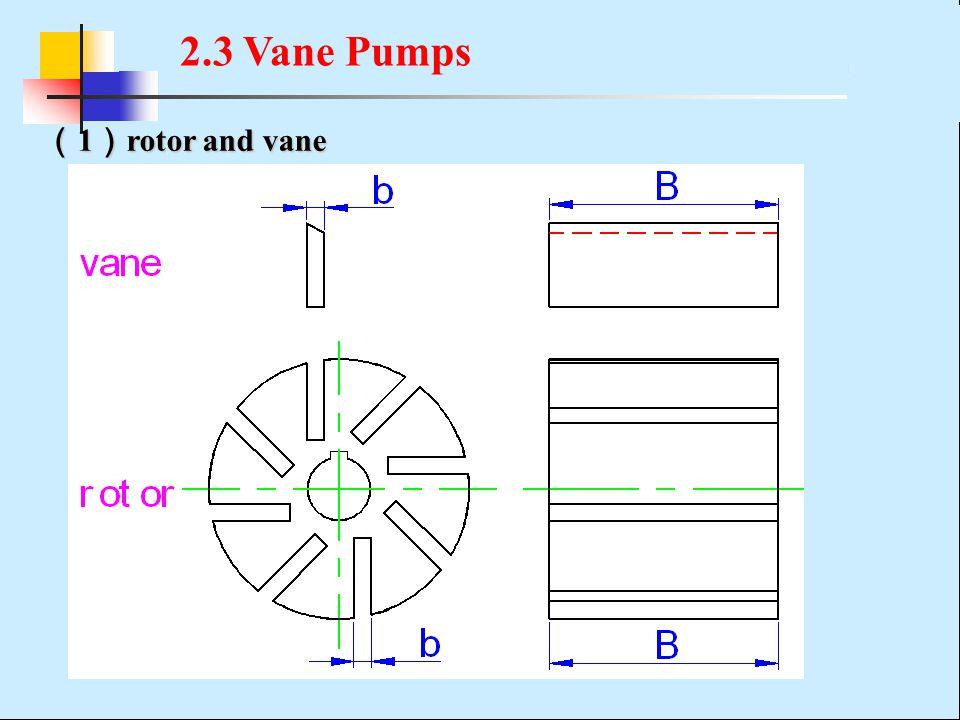 ( 1 ) rotor and vane 2.3 Vane Pumps