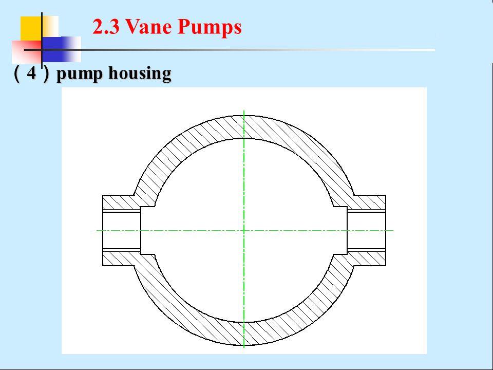 ( 4 ) pump housing 2.3 Vane Pumps