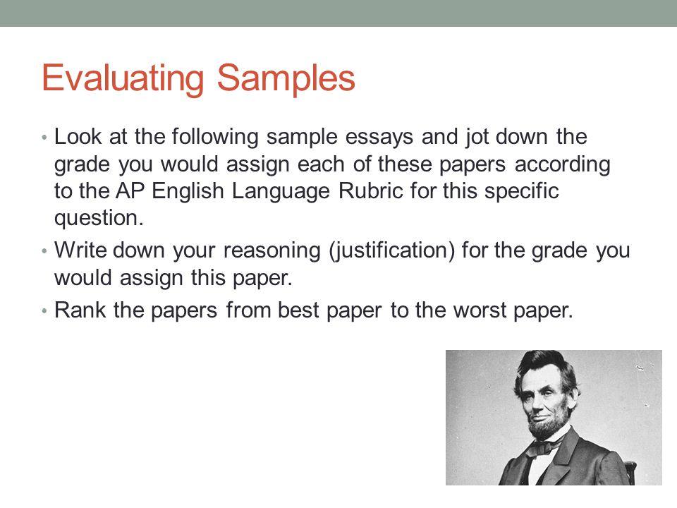evaluating essays
