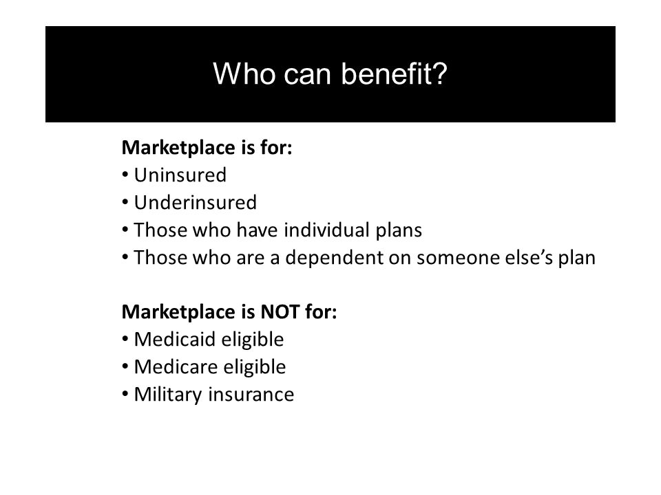 Who can benefit.
