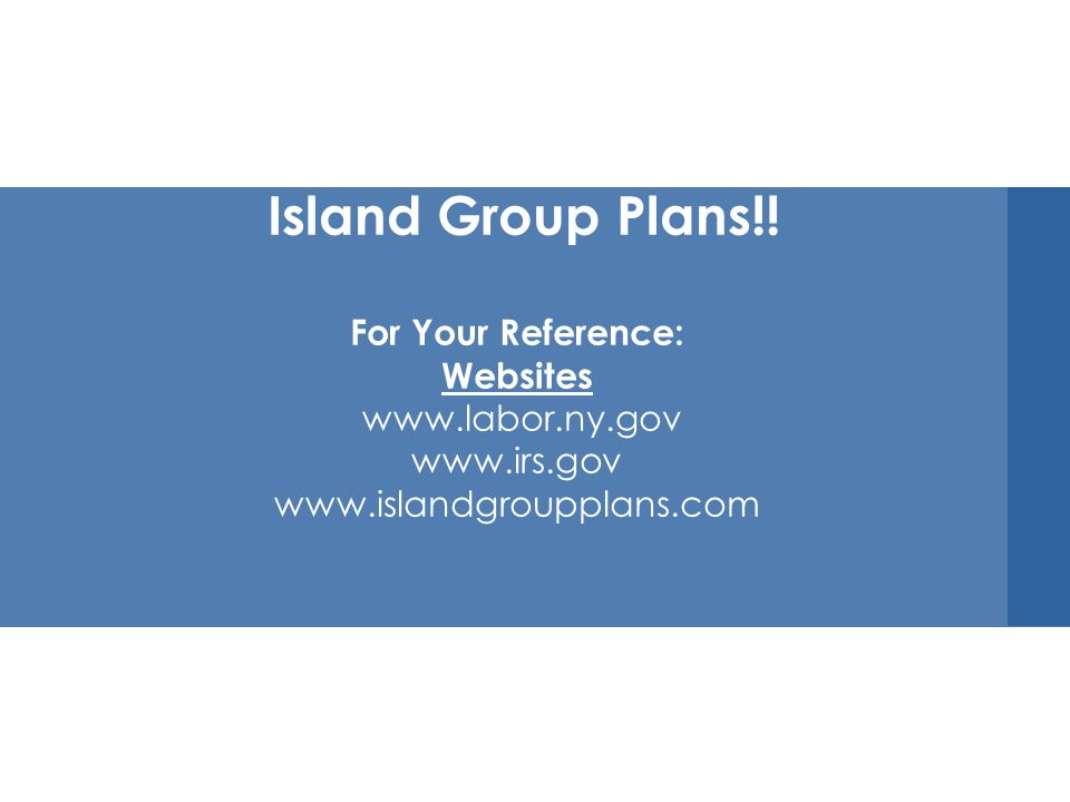 Thank You for Coming Today Island Group Plans!.