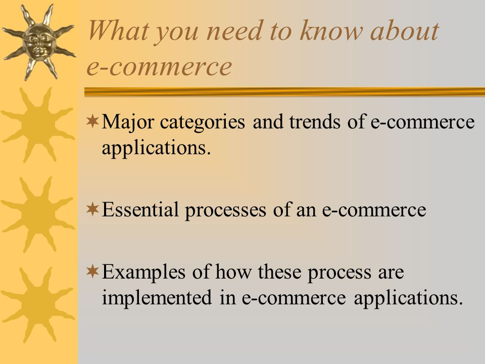 What you need to know about e-commerce  Web store requirements needed to succeed in e-commerce.