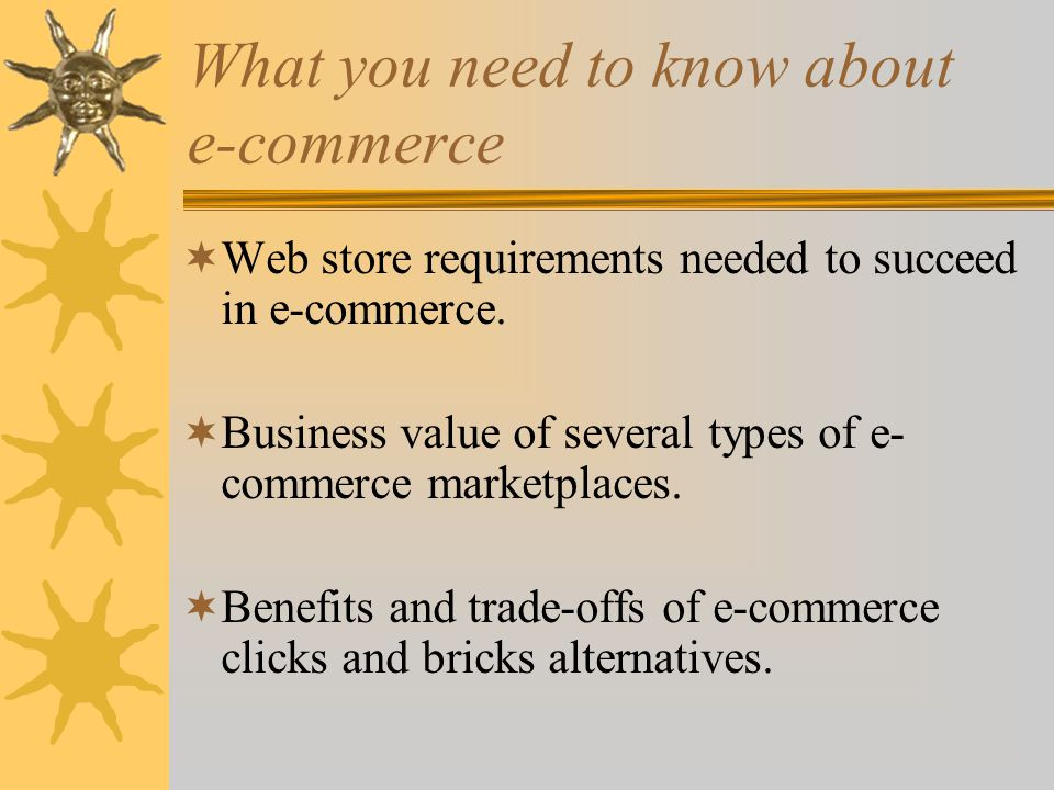 What is Electronic Commerce.