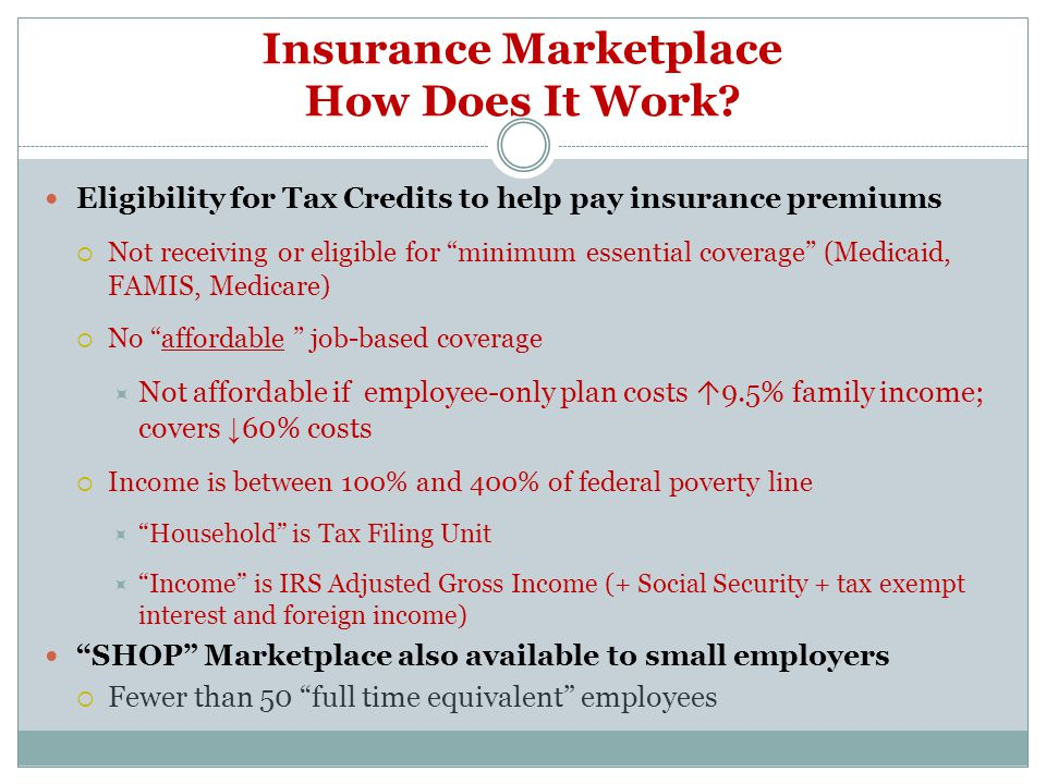 Insurance Marketplace How Does It Work.