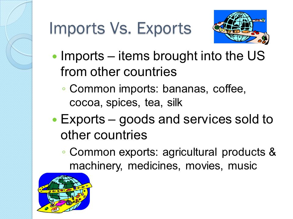 Imports Vs.
