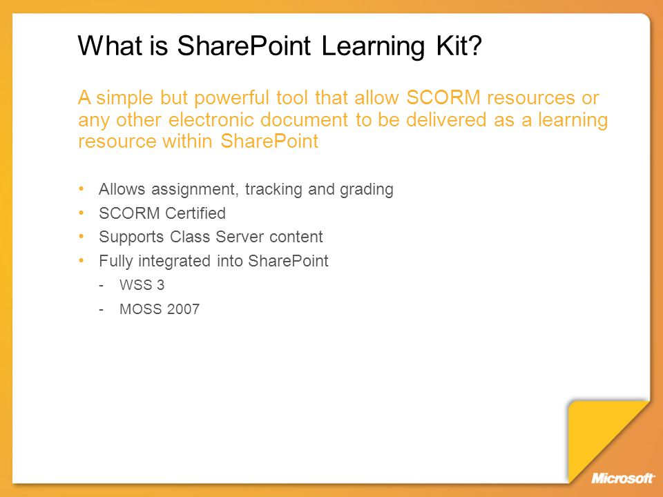What is SharePoint Learning Kit.