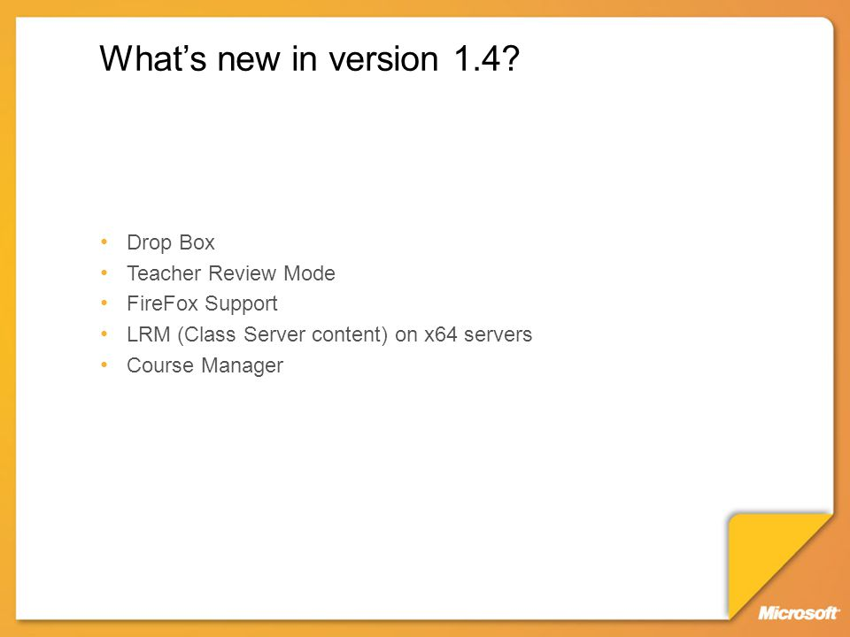 What's new in version 1.4.