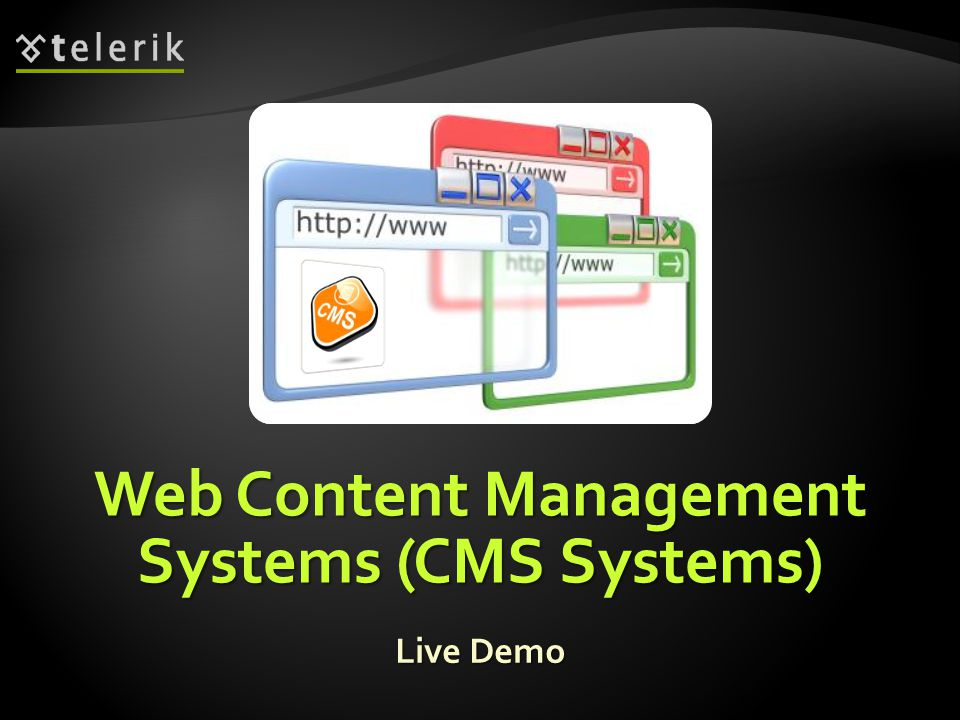 Web Content Management Systems (CMS Systems) Live Demo