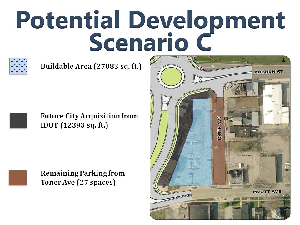 Buildable Area (27883 sq. ft.) Future City Acquisition from IDOT (12393 sq.
