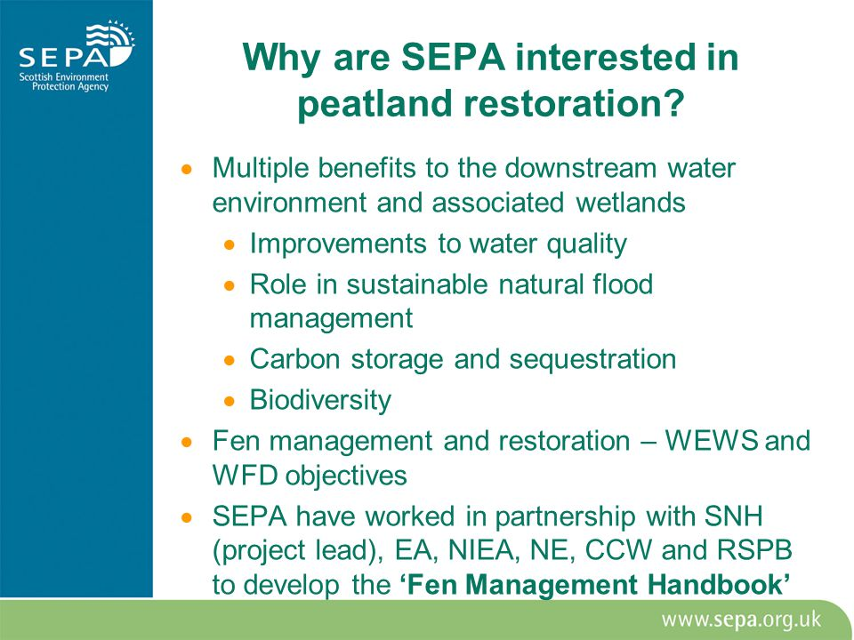 Why are SEPA interested in peatland restoration.