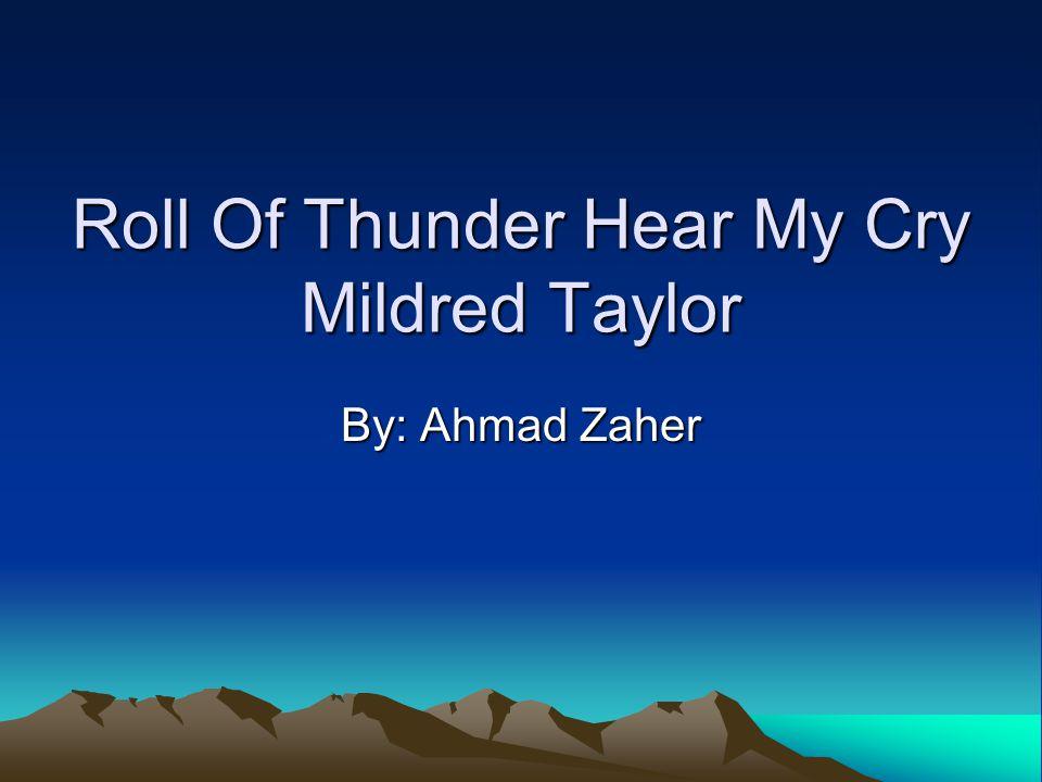 Roll Of Thunder Hear My Cry Essay