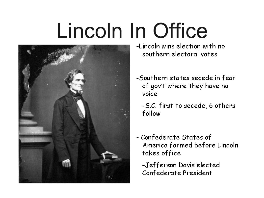 Lincoln In Office
