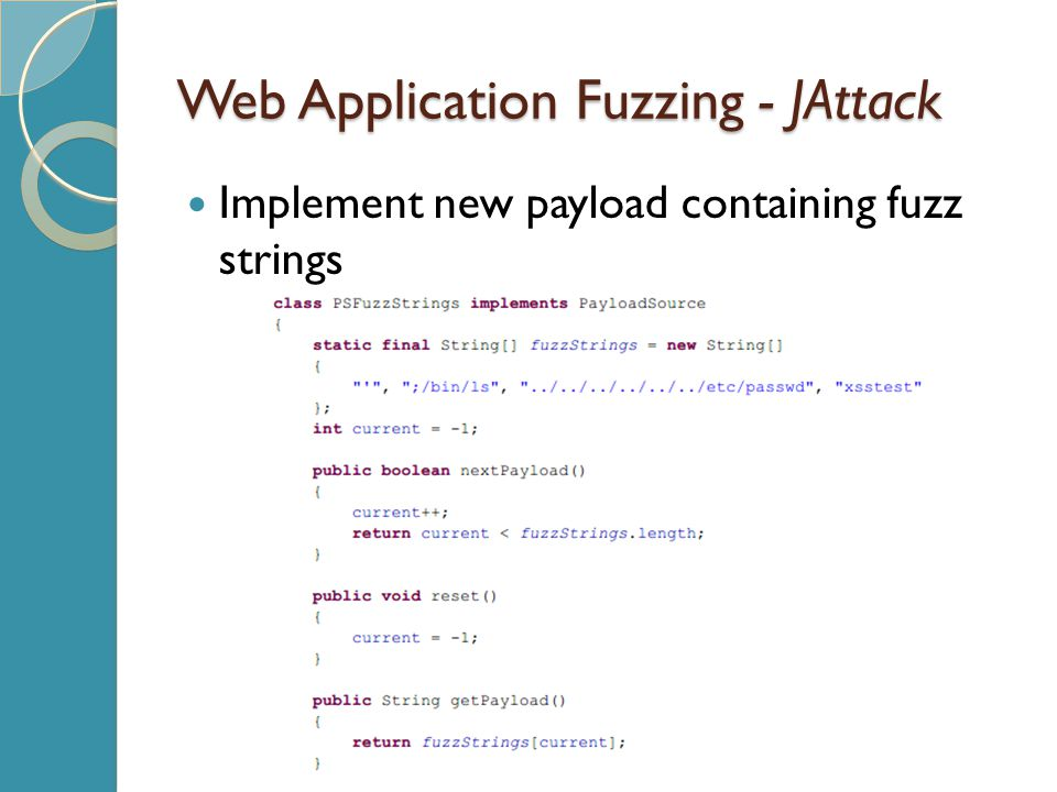 Web Application Fuzzing - JAttack Implement new payload containing fuzz strings