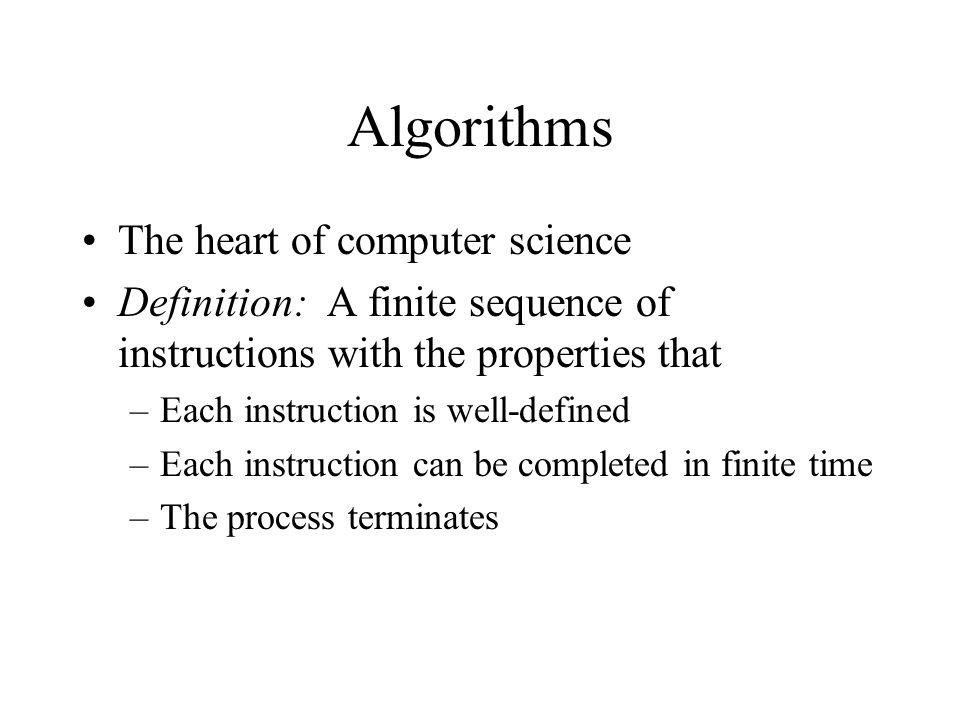 Finite Definition Science