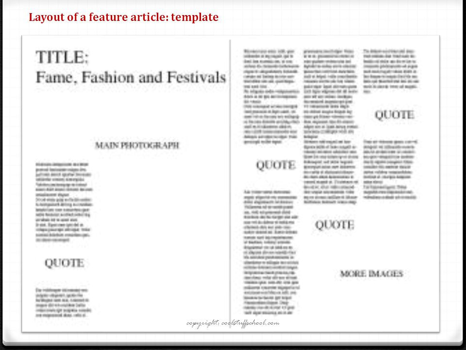 Newspaper Feature Article Template Choice Image - Template Design ...
