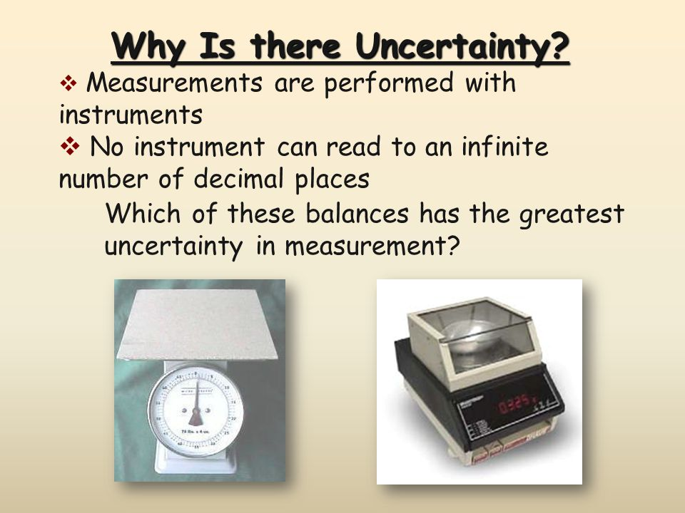 Why Is there Uncertainty.