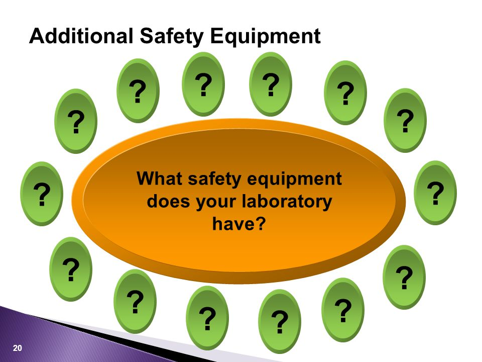 Additional Safety Equipment 20 What safety equipment does your laboratory have