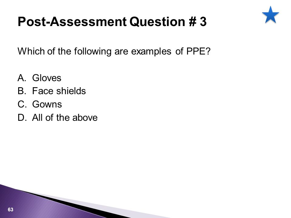 Which of the following are examples of PPE.