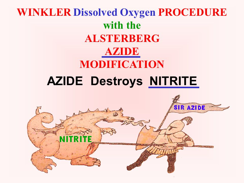 WINKLER DISSOLVED OXYGEN DETERMINATION
