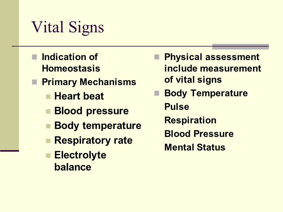 Heart rate and homeostasis