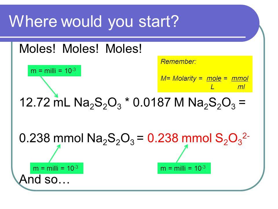Where would you start. Moles. Moles. Moles.