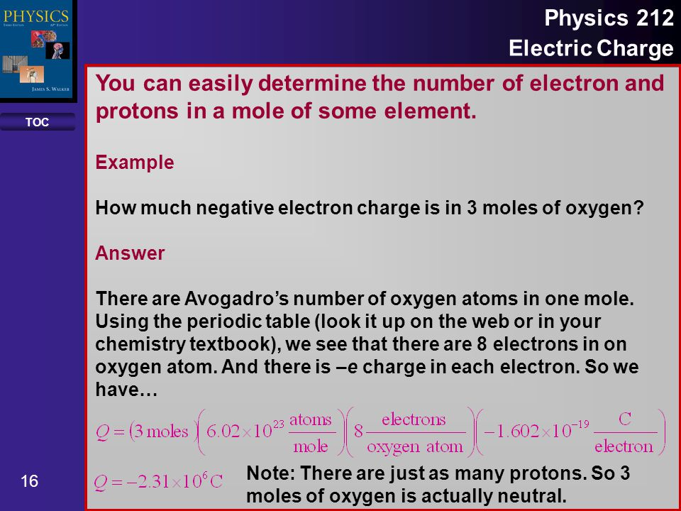 Toc 1 physics 212 electric charge properties of objects fundamental toc 16 physics 212 electric charge you can easily determine the number of electron and protons urtaz Choice Image