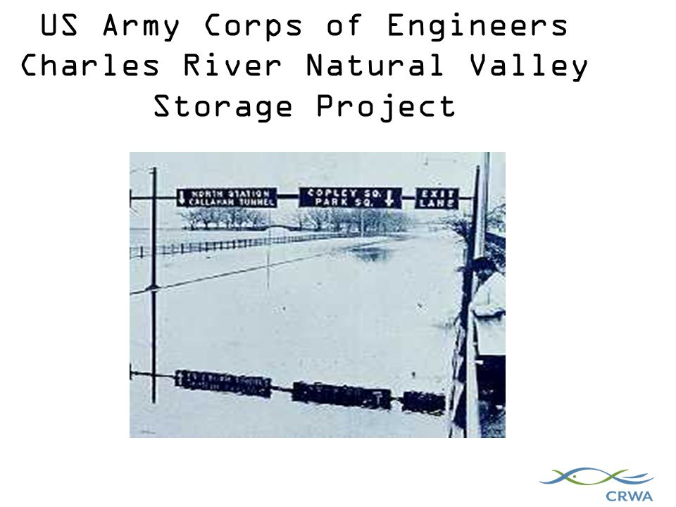 US Army Corps of Engineers Charles River Natural Valley Storage Project 1938 Flood, Boston, MA