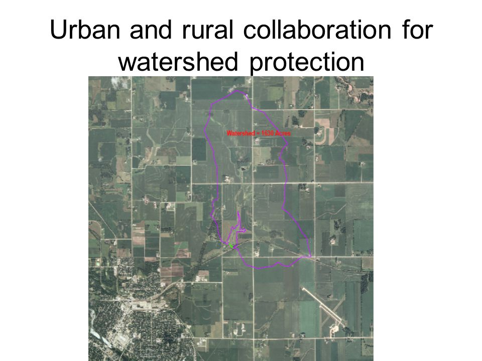 Urban and rural collaboration for watershed protection