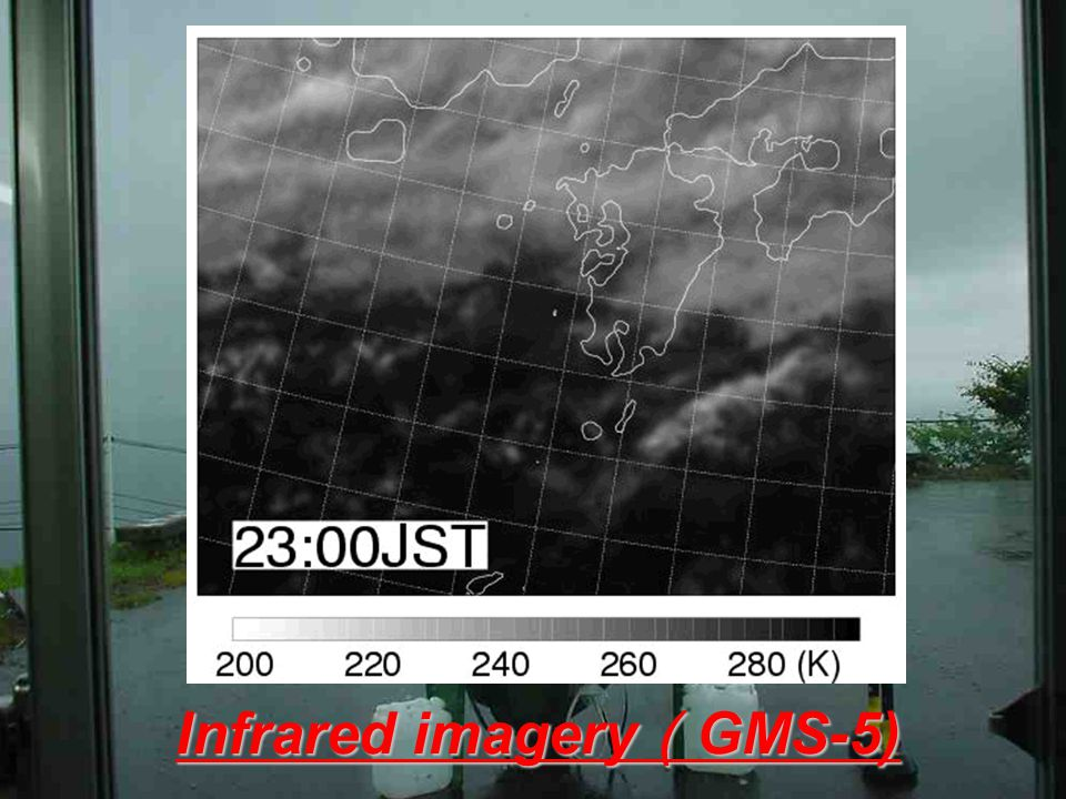Infrared imagery ( GMS-5)