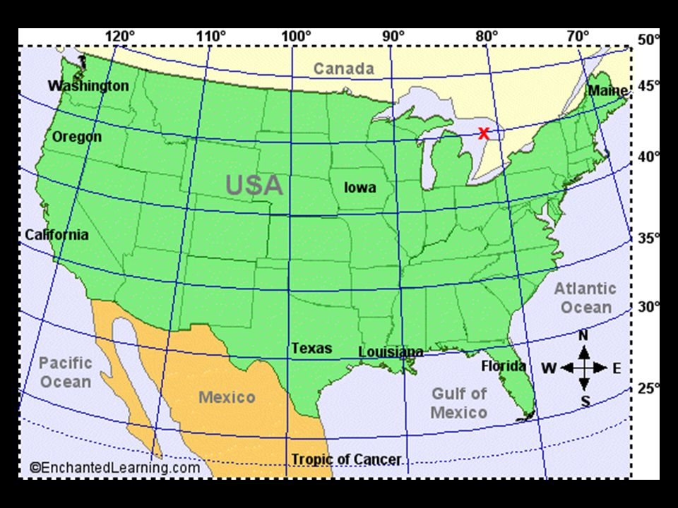 American History And The American Dream Ppt Video Online Download - Us map with latitude and longitude printable