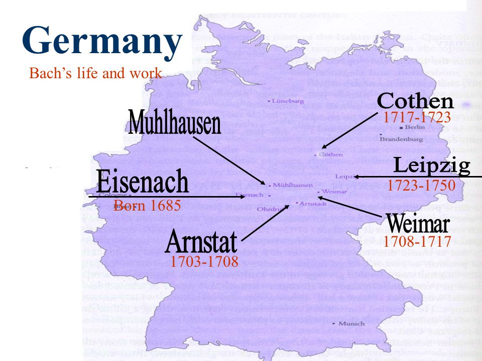 Born Germany Bach's life and work