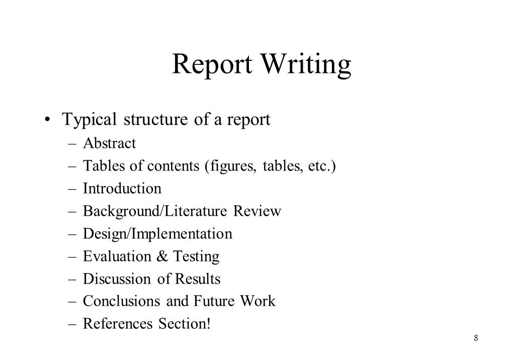 introduction to report writing Introduction to lab report writing dr will kurlinkus genre specifications  all sections are present in the proper order  information is logically ordered  there is no overlap between sections 1abstract: one sentence on everything2introduction: hypothesis and why you have that hypothesis based on.