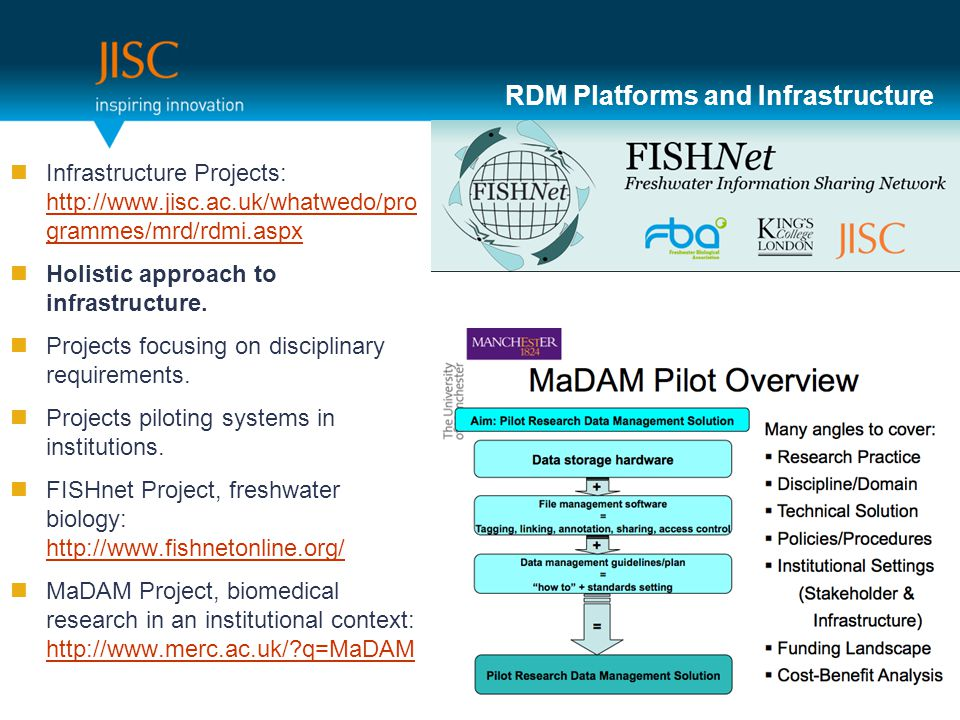 RDM Platforms and Infrastructure Infrastructure Projects:   grammes/mrd/rdmi.aspx   grammes/mrd/rdmi.aspx Holistic approach to infrastructure.