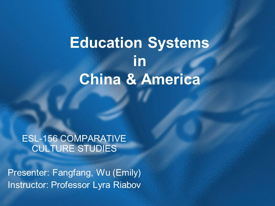 a comparison of the american and chinese educational system