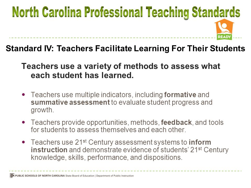 Teachers use a variety of methods to assess what each student has learned.