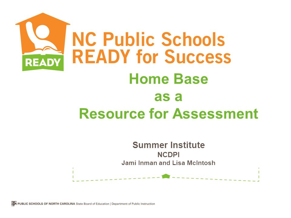 Home Base as a Resource for Assessment Summer Institute NCDPI Jami Inman and Lisa McIntosh