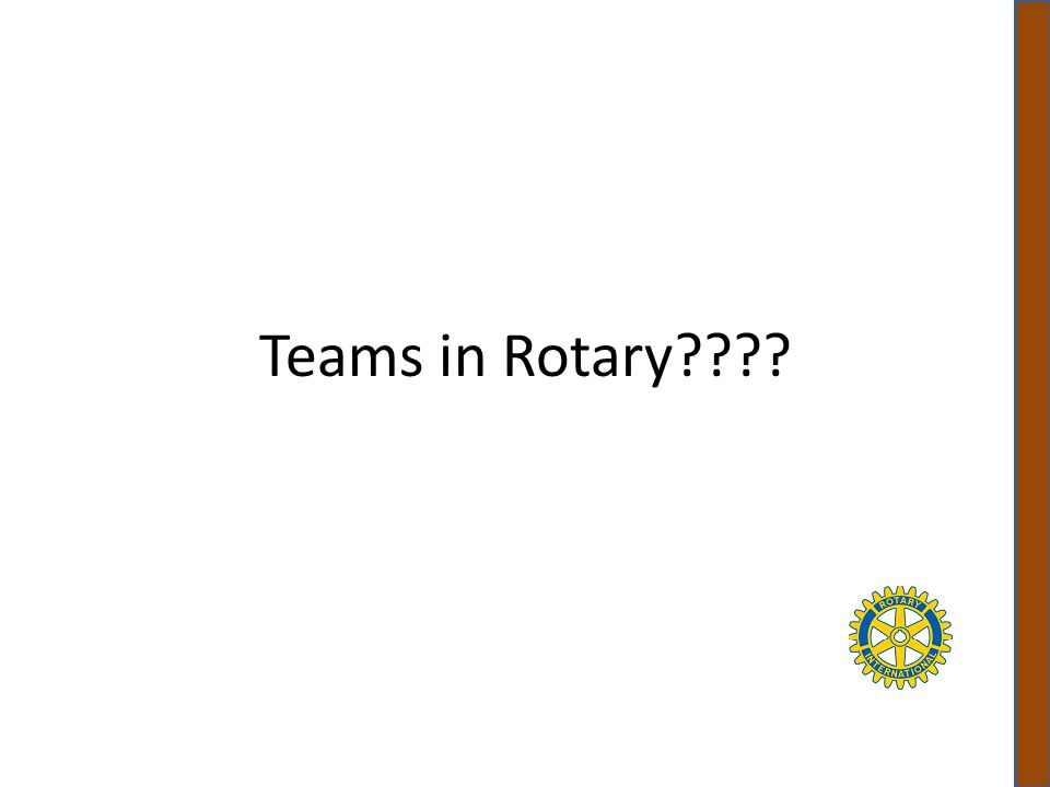 Some of the Teams in Rotary