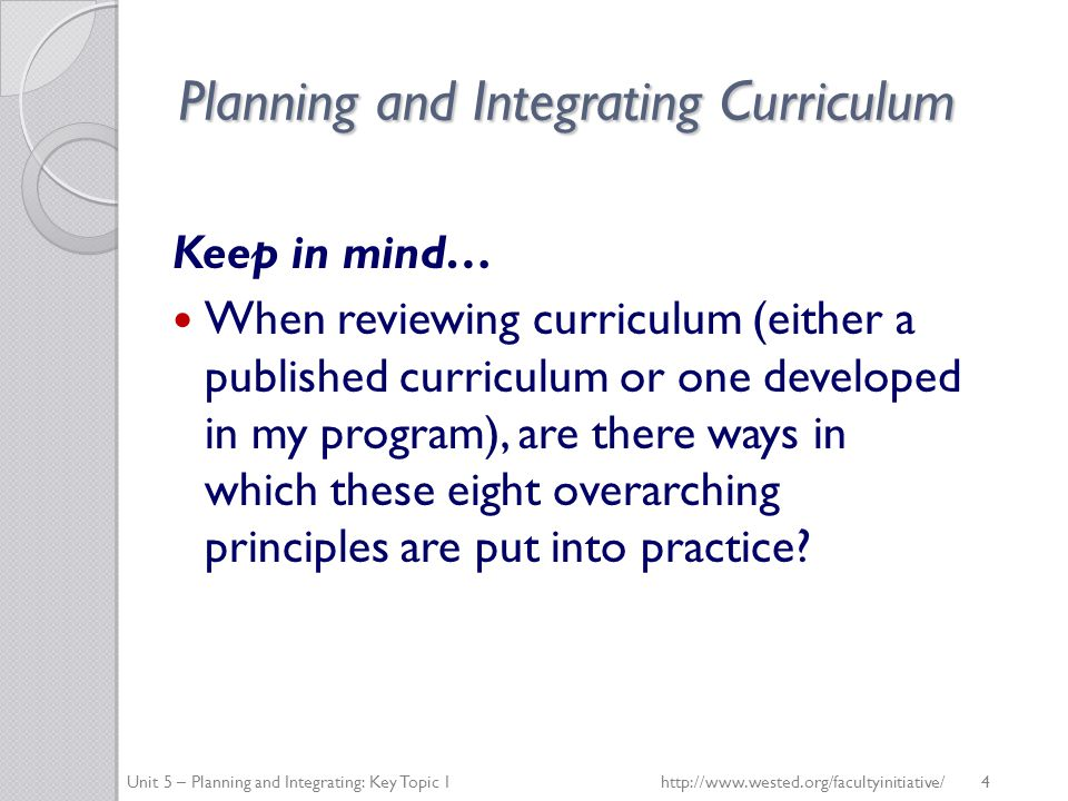 Planning and Integrating Curriculum How is observation supported.