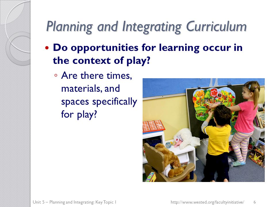 Planning and Integrating Curriculum What planned opportunities are in place for teachers to reflect, discuss their observations, and review their documentation.