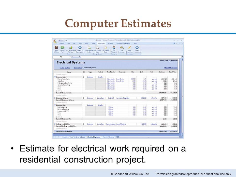 Wonderful Electrical Estimates Pictures Inspiration - Wiring Diagram ...