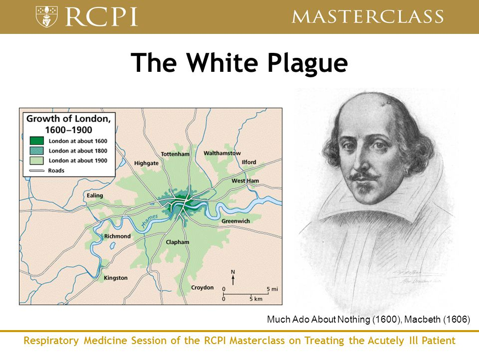Respiratory Medicine Session of the RCPI Masterclass on Treating the Acutely Ill Patient The White Plague Much Ado About Nothing (1600), Macbeth (1606)