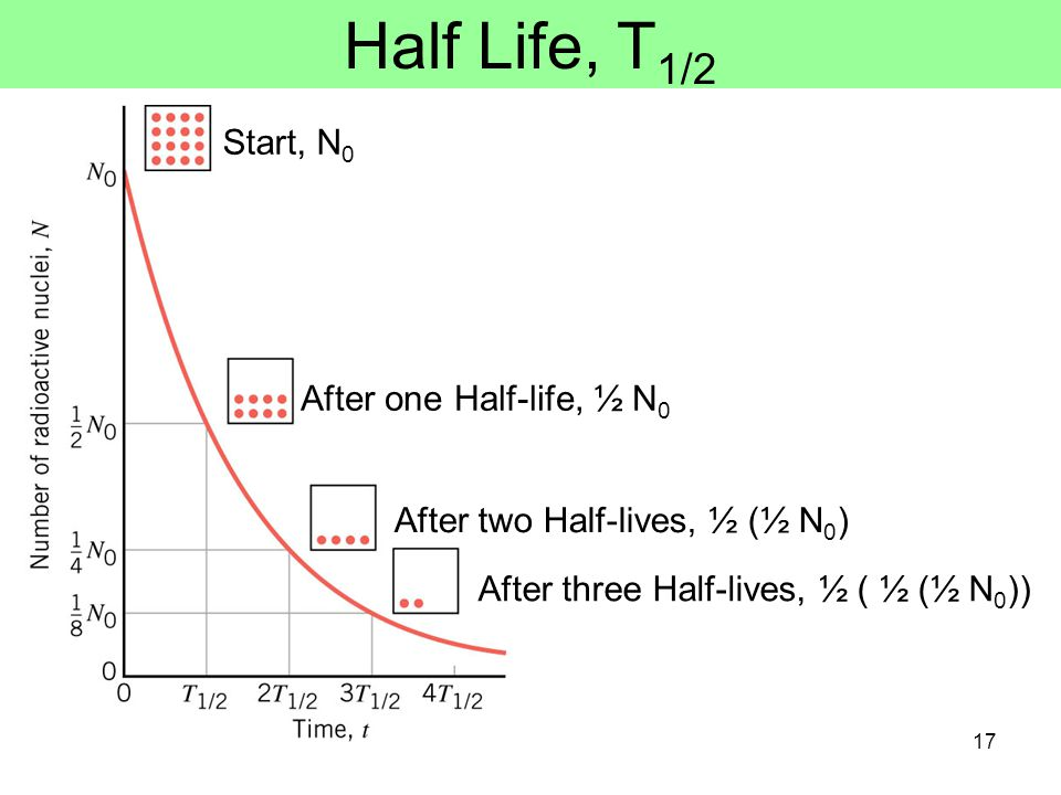 Half-Life of radioactive nuclei the decay of radioactive nuclei is a random process.