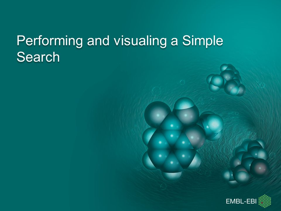 Performing and visualing a Simple Search