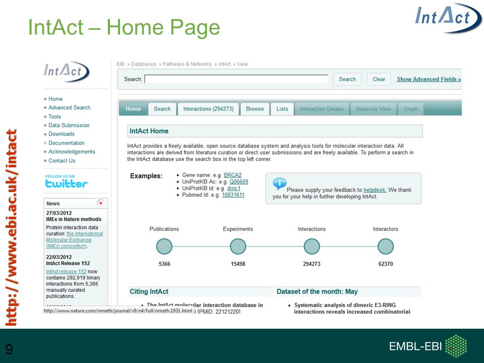 9 IntAct – Home Page