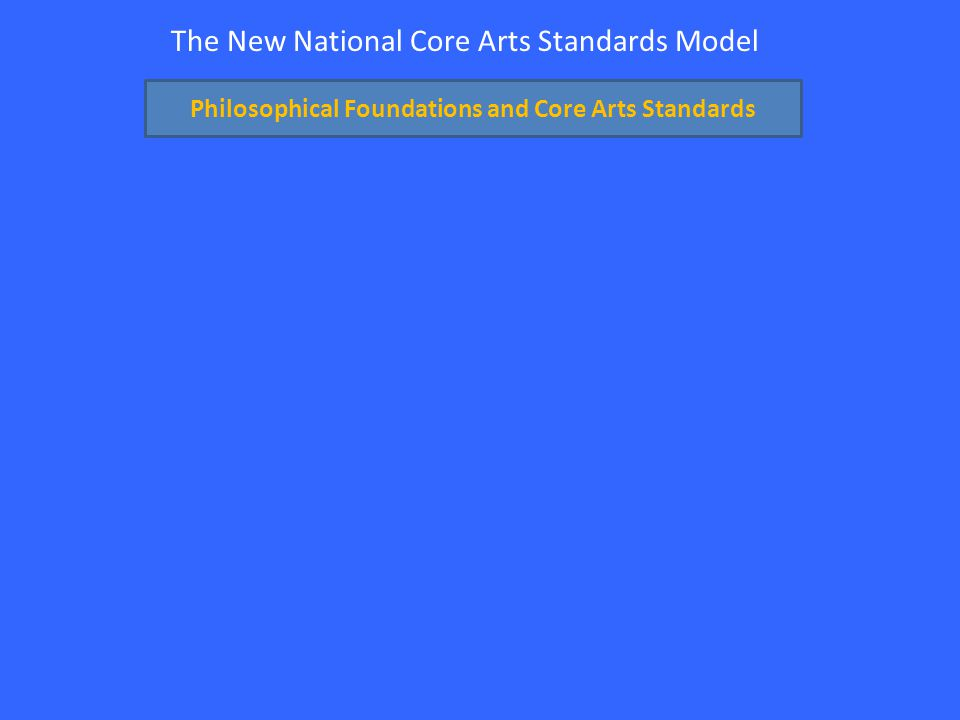 The New National Core Arts Standards Model Philosophical Foundations and Core Arts Standards