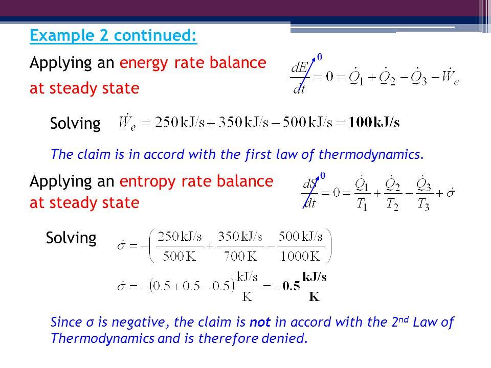 Energy Balance Thermodynamics an Energy Rate Balance at