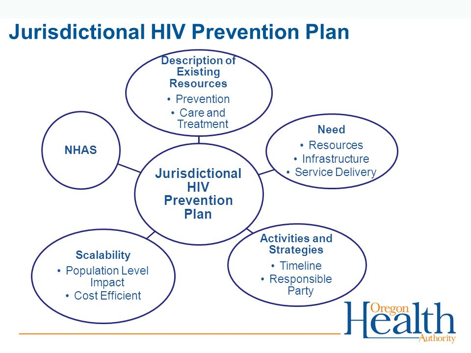 Jurisdictional HIV Prevention Plan Description of Existing Resources Prevention Care and Treatment Need Resources Infrastructure Service Delivery Activities and Strategies Timeline Responsible Party Scalability Population Level Impact Cost Efficient NHAS